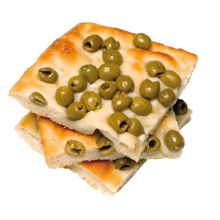 Focaccia alle olive 1,8kg 60x40x30 cong.